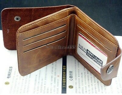 MENS GENUINE REAL SOFT LEATHER WALLET With LARGE Zip Coin Pocket / Pouch Design