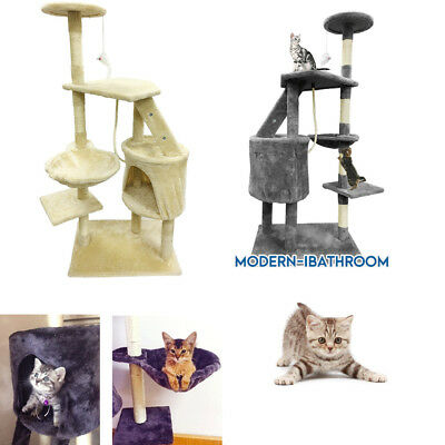 Large Cat Scratching Tree Activity Post Centre w/ Rope Climb Scratch Tower 1.20m