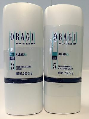 OBAGI x2 NU-DERM CLEAR Fx and BLEND Fx 2 oz Sealed HYDROQUINOIN FREE 100% authen