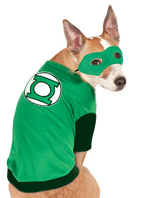 "Green Lantern Pet Costume,Medium, Small, Neck to Tail 11"", Chest 17"""