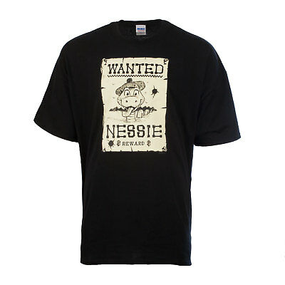 Heritage of Scotland Men's Fashion Wanted Nessie Sign T-Shirt