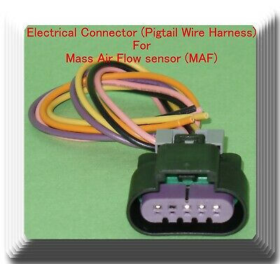 6 Wire Electrical Pigtail Connector for Mass Air Flow Sensor MAS0128 Fits Ford