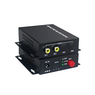 2 Audio Over FC Fiber optic Extender Converters for Broadcast system (Tx/Rx) Kit