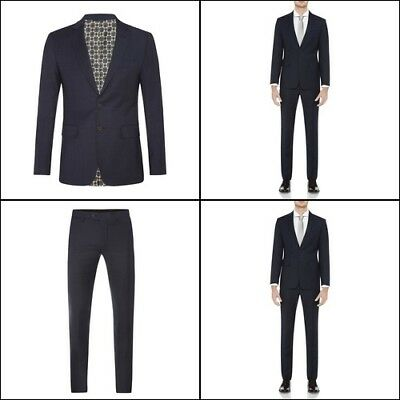 New Oxford AUDEN WOOL SUIT JACKET BLUE X WITH MATCHING TROUSERS