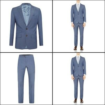 New Oxford HOPKINS PEAKLPL SUIT JACKET LTBLUX WITH MATCHING TROUSERS