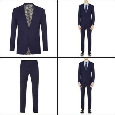 New Oxford MARLOWE WOOL SUIT JACKET BLUE X WITH MATCHING TROUSERS