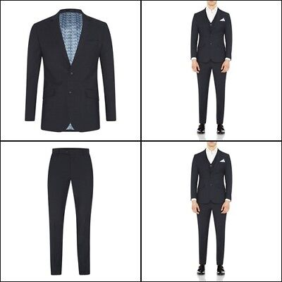 New Oxford NEW HOPKINS SUIT JACKET GUNMETAL X WITH MATCHING TROUSERS