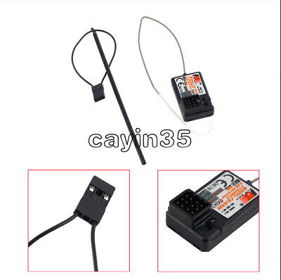 Flysky FS-GR3E Upgraded 3 Channel 2.4G Receiver GT3B, GR3C for RC Car Truck Boat