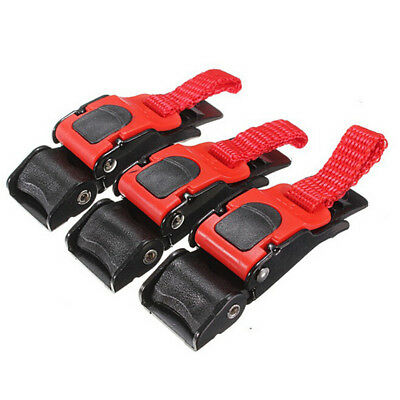 3x Helmet Speed Clip Quick Release Chin Strap Button Pull Buckle for Motor Bike