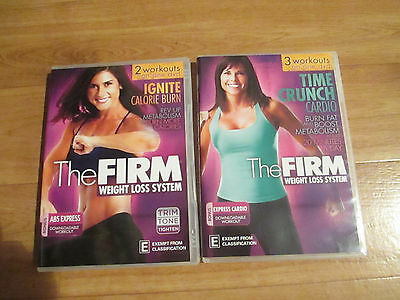 THE FIRM WEIGHT LOSS SYSTEM - Exercise DVDs x 2 Calorie Burn, Cardio Crunch Reg4
