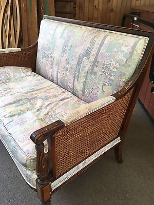 Antique Wicker Love Seat