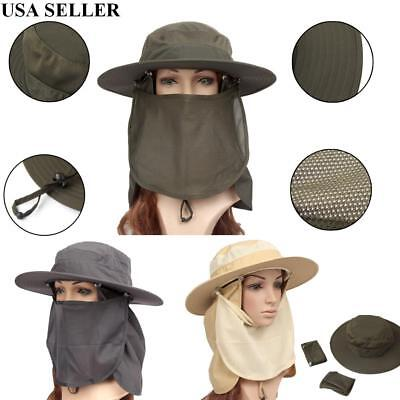 2f98ab2eb7a Unisex Outdoor Brim Sun Block Quick Drying Fishing Sun Cap Climbing Bucket  Hat