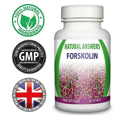 Forskolin 500mg Pure Coleus Forskohlii Extract 60 Capsules Natural Answers