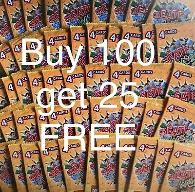 Lego Create the World Cards Unopened Buy 25 packets (100 CARDS) Get 5 FREE