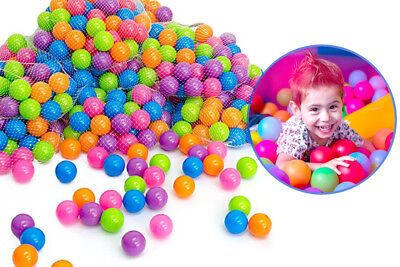 100pcs Plastic Balls for Ball Pits Children Kids Multi-Coloured Toys Play Pool