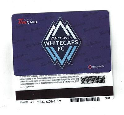 Tim Hortons 2015 Vancouver White Caps Gift Card FD48208