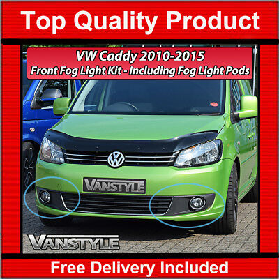 Vw Caddy & Maxi 2010-2015 Facelift Complete Front Fog Light Kit Lamps Lights