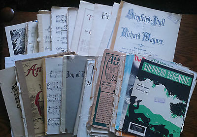 Vintage and Rare Sheet Music Collection Bulk Lot of 4kg for Craft/Decoupage