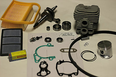 Stihl TS420 Cylinder and Piston, Crankshaft Overhaul / Rebuild Kit w/ Gaskets