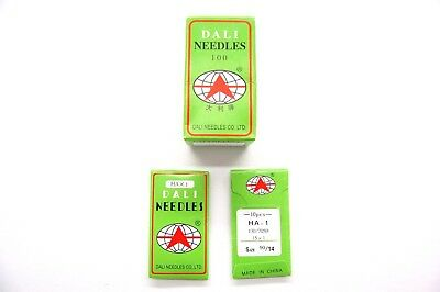 100 Dali Domestic Sewing Machine Needles Hax1 90/14 For Brother,singer, Juki Etc