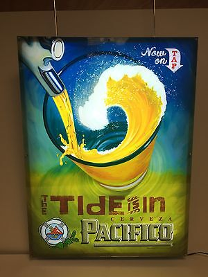 "Pacifico Beer Cerveza LED Sign Motion Lights The Tide Is In NEW BOX ~  24"" x 18"""