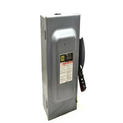 Square D HU362 60A Heavy Duty Non-Fusible Safety Disconnect Switch 600VAC/DC