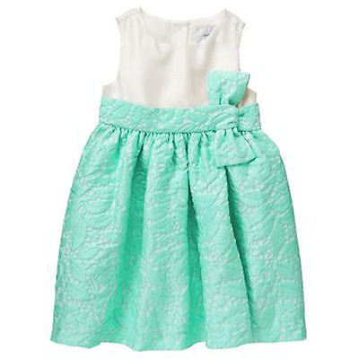 NWT Gymboree Baby Girl ALL DRESSED UP Ivory Green Lace Dress 6-12