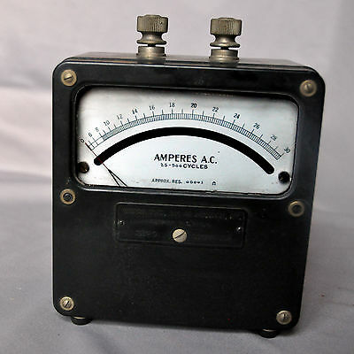 Weston Instruments 433 AC Ammeter, 0-30 amps