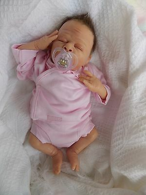 Solid Silicone with soft body Reborn Baby Girl Doll - Poppy  - preemie baby