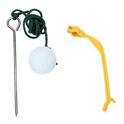 Rope Golf Ball Hit Pratique Aide Swing Trainer + Golf Swing Practice Guid