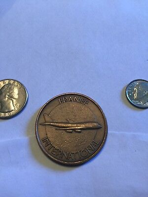 Braniff International Airlines Brass Medallion Award coin