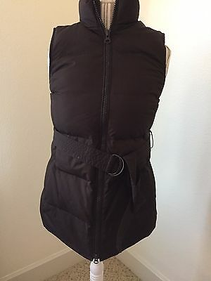 GAP Maternity Down Puffer Vest Chocolate Brown SizeXS