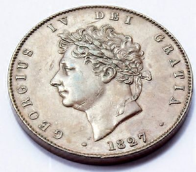 Great Britain. 1827 KING George IV - Halfpenny.VERY HIGH GRADE COIN