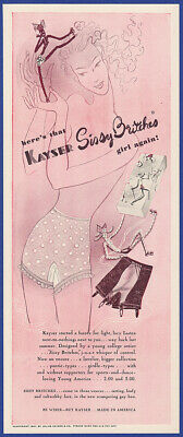 Vintage 1941 KAYSER Sissy Britches Panties Lingerie Women's Fashion Print Ad