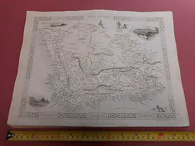 100% Original Cape Colony South Africa Map By Montgomery/tallis C1865 Vgc