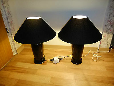 2 tischlampen nachttischlampe gro e lampen schwarz eur 24 00 picclick de. Black Bedroom Furniture Sets. Home Design Ideas