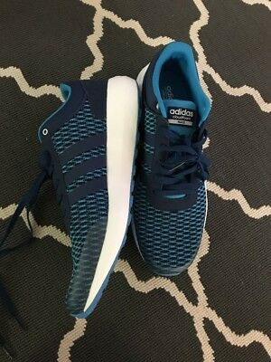 MENS ADIDAS CLOUDFOAM Race B74729 Shoe Sneaker Blue Size