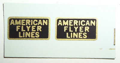 Two (2) Water Slide Decals For American Flyer Lines Pre-War Cars