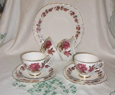 Vintage Colcough Roses Afternoon Tea For Two