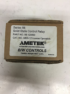 NEW AMETEK B/W Controls Solid State Relay Part  56-120000