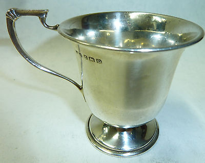 Small Antique Solid Silver Christening Cup Hallmarked Birmingham 1913 - 55g