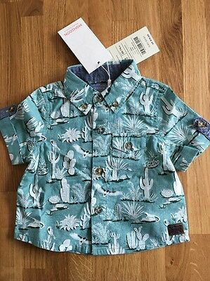 Monsoon Baby Boys Summer Holiday Shirt New BNWT 3-6 Months