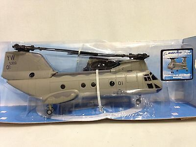 Boeing CH-46 Sea Knight, Marine, 1:55 Diecast Helicopter, Collectibles, New Ray