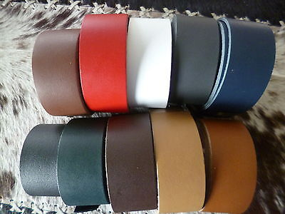 """Leather straps Cowhide """"Standard"""" Belt band LARP in 10 various Colours"""