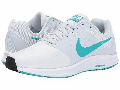 Nike DOWNSHIFTER 7 Womens White/Clear Jade-Pure Platinum 852466-101 Shoes