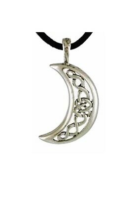 Celtic Moon Celestial Necklace - Pewter