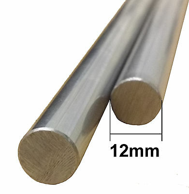 3D Printer 12mm Chrome Steel Smooth Rod - Linear Rail Bar Shaft - RepRap