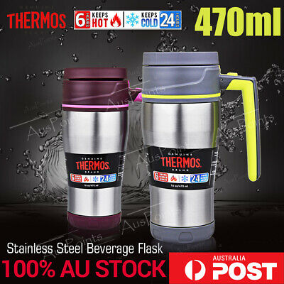 NEW Thermos stainless steel VACUUM Insulated Travel Mug coffee cup/bottle 470ml
