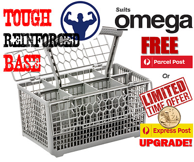 Best quality dishwasher cutlery basket, suits Omega models - Reinforced base.