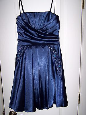 Brand New Navy Blue Homecoming Formal Dance Strapless Dress Size 3 4 Nwt